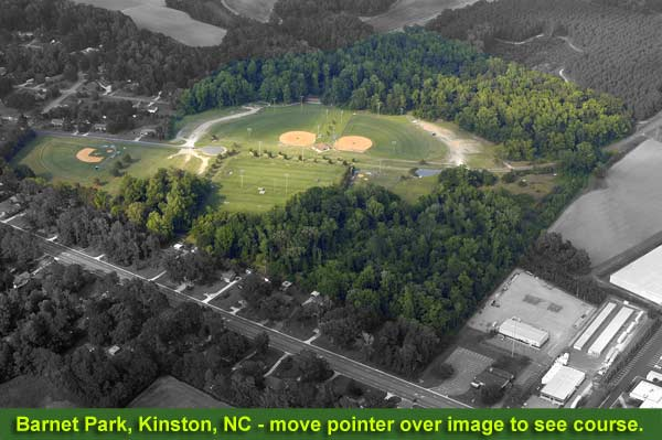 Barnet Park Disc Golf Course Layout Aerial Photo