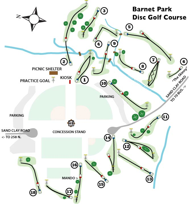 Barnet Park Course Diagram